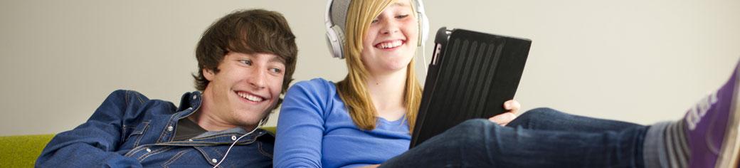man woman laptop - UTStarcom
