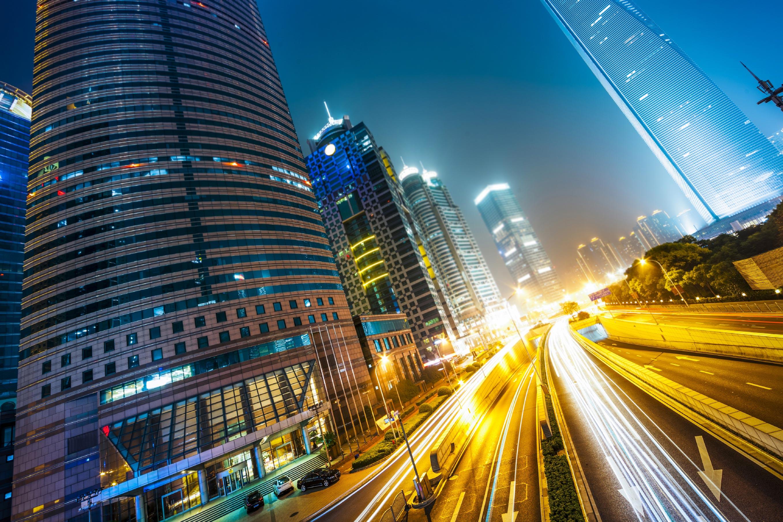 Shanghai street by night - UTStarcom